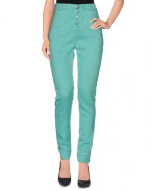Джинсовые брюки E-GÓ. Цвет: зеленый