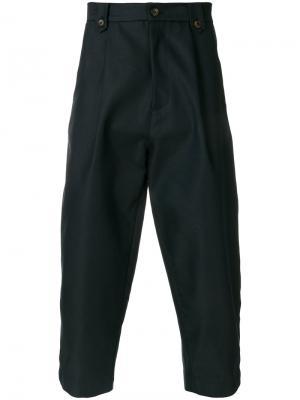 Cropped straight leg trousers Société Anonyme. Цвет: синий