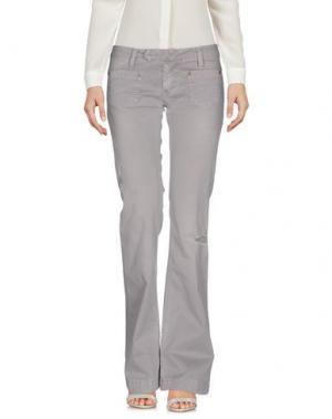 Повседневные брюки PLEASE. Цвет: серый