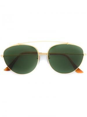 Солнцезащитные очки Lèon Retrosuperfuture. Цвет: коричневый