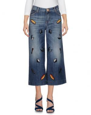Джинсовые брюки ALYSI. Цвет: синий