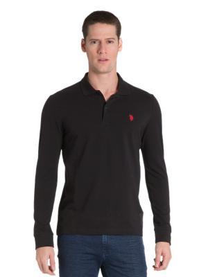 Лонгслив U.S. Polo Assn.. Цвет: черный