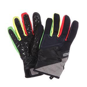Перчатки сноубордические  Zero 2 Rasta Pow. Цвет: черный,серый