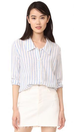 Блузка Erin RUKEN. Цвет: светло-голубая полоска