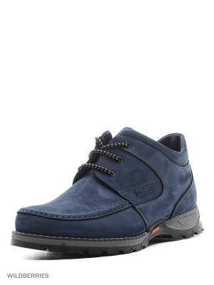 Ботинки BEKERANDMILLER. Цвет: синий