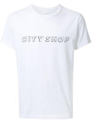 Футболка с принтом-логотипом Cityshop. Цвет: белый