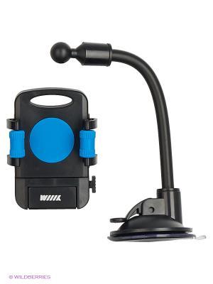 Держатель телефона/смартфона с кнопкой фиксации зажима HT-WIIIX-01Nbu на длинной штанге WIIIX. Цвет: черный