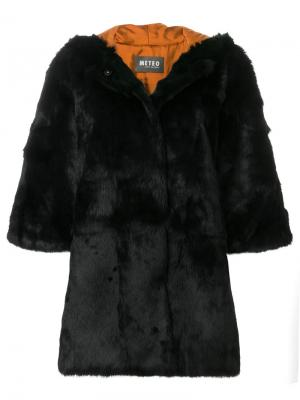 Меховое пальто Meteo By Yves Salomon. Цвет: чёрный