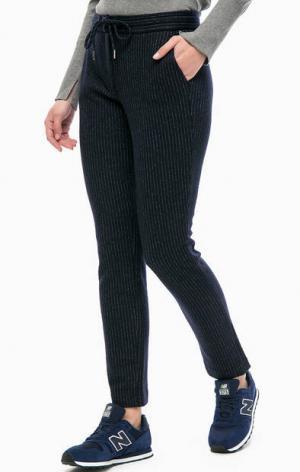 Шерстяные брюки в полоску MORE &. Цвет: синий