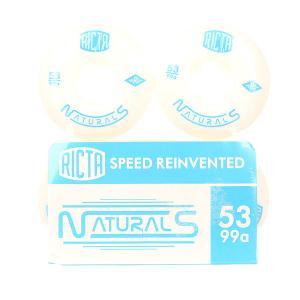 Колеса для скейтборда  Naturals White/Blue 99A 53 mm Ricta. Цвет: голубой,белый