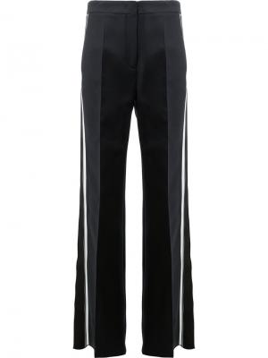 Расклешенные брюки с полосками по бокам Fendi. Цвет: чёрный