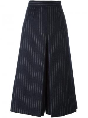 Брюки-юбка в тонкую полоску Saint Laurent. Цвет: синий