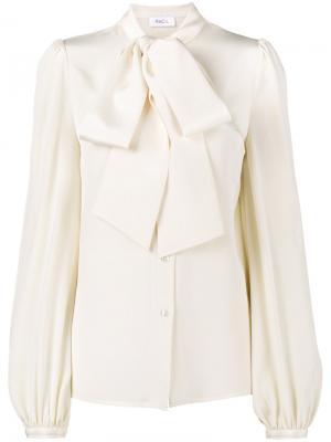 Блузка с воротником-шарфом Racil. Цвет: телесный