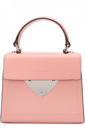 Кожаная сумка B14 Mini Coccinelle. Цвет: розовый