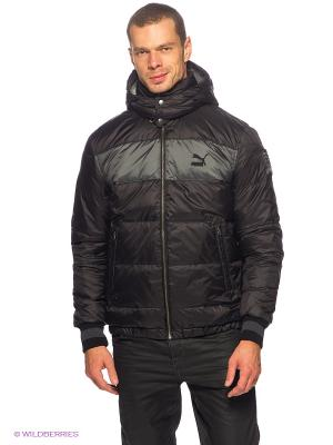 Куртка Varsity Down Jacket Puma. Цвет: черный, темно-серый