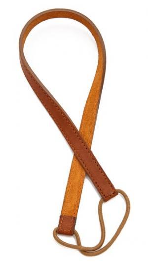 Тонкий кожаный обруч Jennifer Behr. Цвет: коньячный