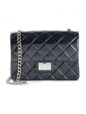 Стёганая сумка на плечо Designinverso. Цвет: синий
