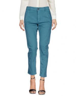 Повседневные брюки SUPERFINE. Цвет: цвет морской волны