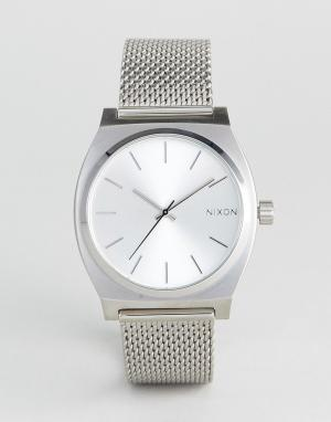 Nixon Серебристые часы Time Teller Luxe. Цвет: серебряный