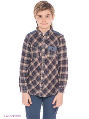 Рубашка Fore!! Axel and Hudson. Цвет: коричневый, темно-синий