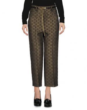 Повседневные брюки ANGELA MELE MILANO. Цвет: зеленый-милитари