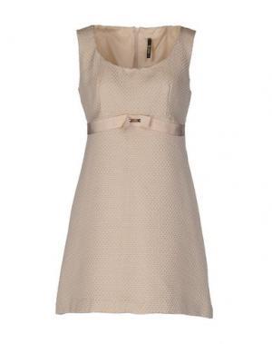 Короткое платье LUNATIC. Цвет: бежевый