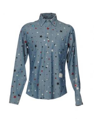 Джинсовая рубашка THE EDITOR. Цвет: синий