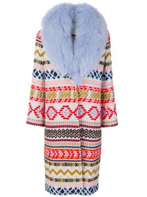 Длинное пальто с узором Giada Benincasa. Цвет: многоцветный