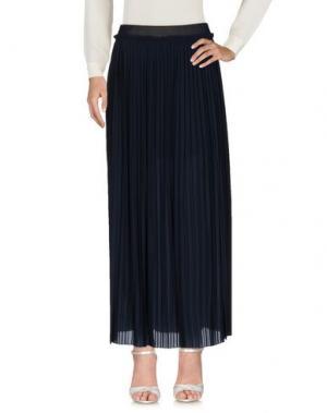 Длинная юбка EMMA&GAIA. Цвет: темно-синий