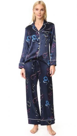 Пижама Lila Nasra Olivia von Halle. Цвет: темно-синий