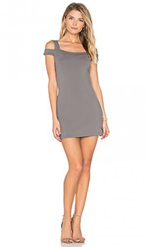 Мини платье 16 lexi Susana Monaco. Цвет: серый
