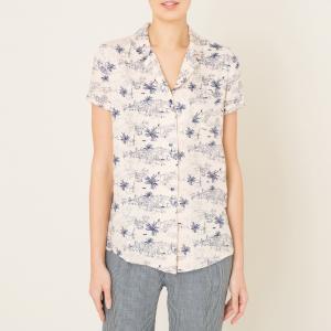 Рубашка с короткими рукавами OTATEA SESSUN. Цвет: рисунок/экрю