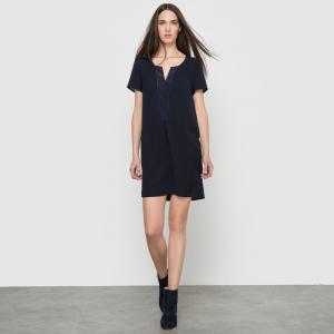 Платье с короткими рукавами SUD EXPRESS. Цвет: темно-синий