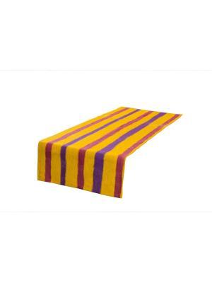 Дорожка сервировочная Полоска (50 см * 150 см) Семейные ценности. Цвет: лиловый, желтый, фиолетовый