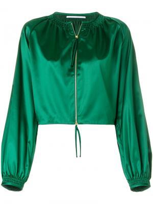 Укороченная куртка-бомбер  с рукавами-колокол Rosetta Getty. Цвет: зелёный