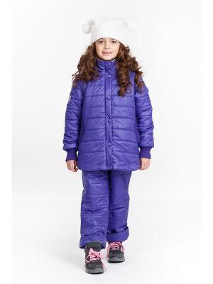 Комплект для девочки NIKASTYLE. Цвет: фиолетовый