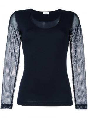 Прозрачная блузка с длинными рукавами Akris. Цвет: синий