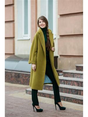 Пальто Exalta. Цвет: оливковый