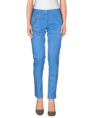 Повседневные брюки MODFITTERS. Цвет: лазурный