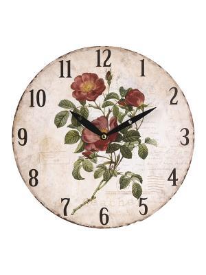 Часы настенные Mitya Veselkov. Цвет: зеленый, белый, черный