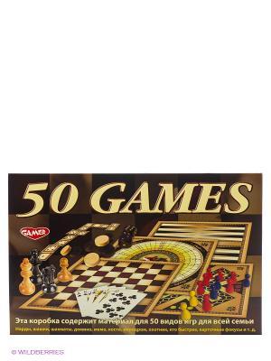 Детская настольная игра 50 видов игр для всей семьи DREAM MAKERS. Цвет: коричневый