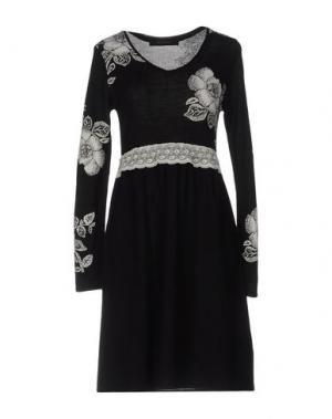 Короткое платье EVALINKA. Цвет: черный