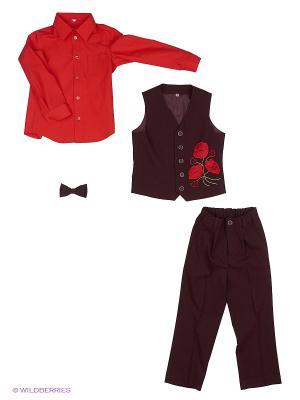 Комплект одежды Милашка Сьюзи. Цвет: бордовый, красный
