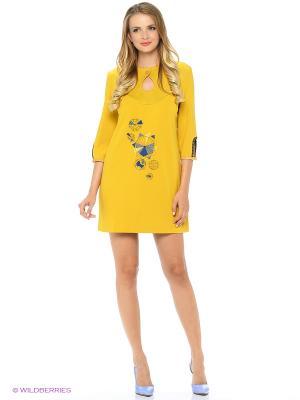 Платье-туника с оригинальным принтом RIJJINI