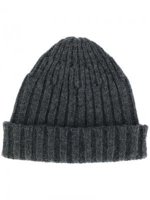 Классическая шапка Roberto Collina. Цвет: серый