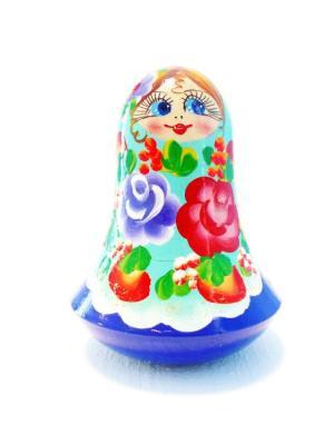 Неваляшка музыкальная - девочка Катя Taowa. Цвет: синий, голубой