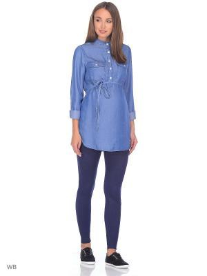 Рубашка Modis. Цвет: синий, голубой