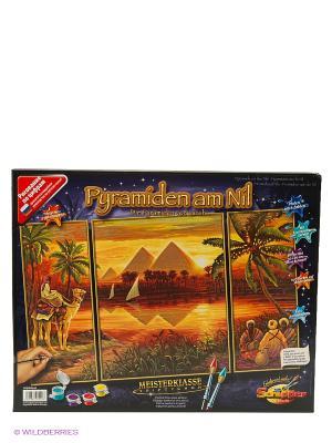Триптих Пирамиды, 50*80 см, 6/6 Schipper. Цвет: оранжевый