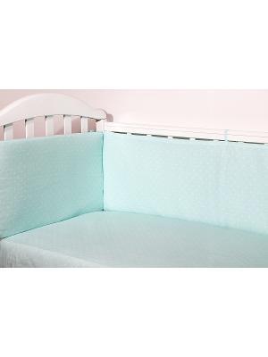 Бортик для кроватки СПОКИ НОКИ. Цвет: салатовый