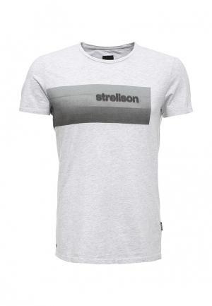 Футболка Strellson. Цвет: серый